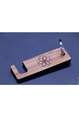 Handyhalter - Schlüsselanhänger aus Olivenholz