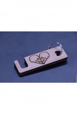 Handyhalter - Schlüsselanhänger aus CH-Buchenholz